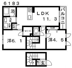 ヴィラーチェ高鷲[A205号室号室]の間取り