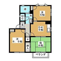 テクノハイツ藤 C[2階]の間取り