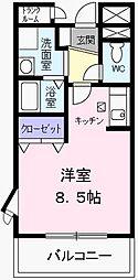 コンフォ−ト[0104号室]の間取り