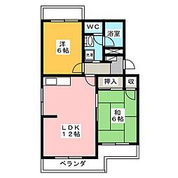 メゾンスーブニール[1階]の間取り