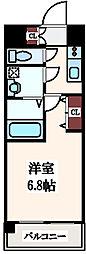 レジュールアッシュ玉造[13階]の間取り
