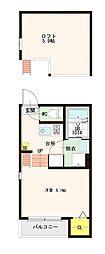ハーモニーテラス花川Ⅱ[2階]の間取り