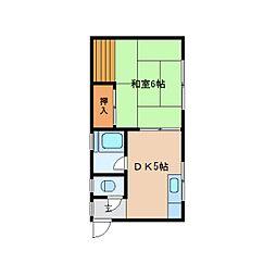 静岡県静岡市清水区千歳町の賃貸アパートの間取り