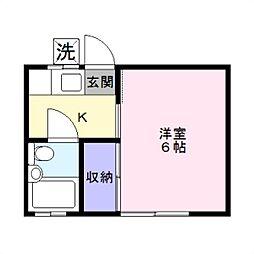 第2湘南ハイツ[107号室]の間取り
