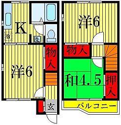 [テラスハウス] 千葉県柏市新柏3丁目 の賃貸【千葉県 / 柏市】の間取り