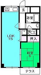 ポコアポコさくら夙川メゾン[105号室]の間取り