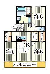 仮)D−roomセントラルパーク[3階]の間取り