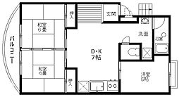 コーポ茨木[2階]の間取り