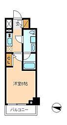 メインステージ松戸[6階]の間取り