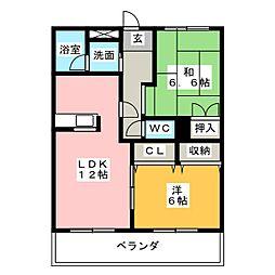 グランドール芳栄II[2階]の間取り