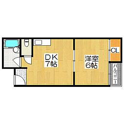 ロイヤルコート7番館[4階]の間取り