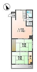 第三米常ビル[4階]の間取り