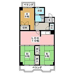クレア泉崎[2階]の間取り