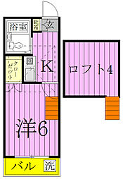 プロシード稔台[111号室]の間取り