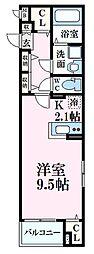 JR山陽本線 広島駅 徒歩14分の賃貸マンション 3階1Kの間取り