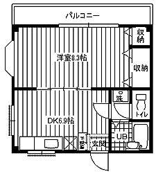 [テラスハウス] 神奈川県横須賀市米が浜通1丁目 の賃貸【/】の間取り
