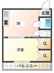 香川県高松市瀬戸内町の賃貸マンションの間取り