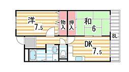 ピュアネスDoi[5C号室]の間取り
