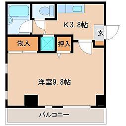 シーフラワーコーポII[3階]の間取り