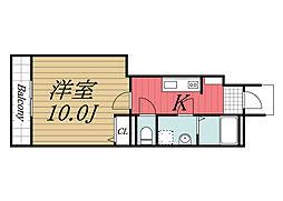 千葉県香取市北1丁目の賃貸アパートの間取り