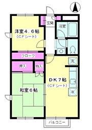 ハピイベル 湘南B棟[2階]の間取り