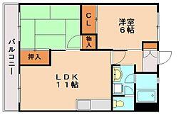 ビュークレスト那珂川[2階]の間取り