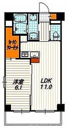 レグルス 5階1LDKの間取り