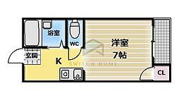 フジレジデンス新深江[3階]の間取り