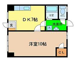 パレFUKUOKA3[1階]の間取り