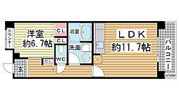 HAT神戸・灘の浜12号棟[7階]の間取り