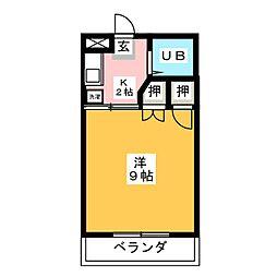ユニテ丹羽[3階]の間取り