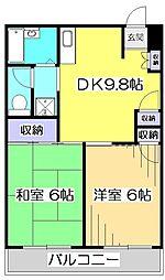 リエス国分寺恋ヶ窪[4階]の間取り