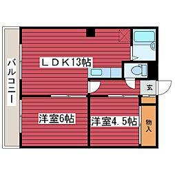 ツキミコーポ[2階]の間取り