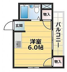 スター21深江南[2階]の間取り