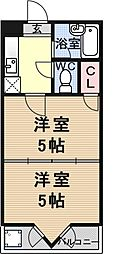 プランドール勧修寺[302号室号室]の間取り