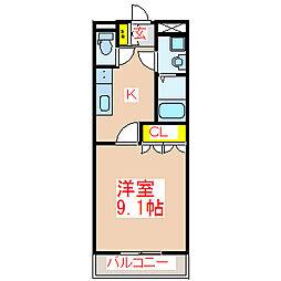 レイクレアI[1階]の間取り