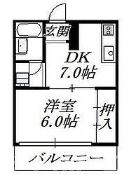 ホワイトシャトー堀江[2階]の間取り