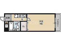 ベンベヌート大西[3階]の間取り
