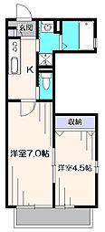 東京都西東京市泉町2丁目の賃貸アパートの間取り