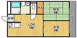 エスペラール武庫之荘[5階]の間取り