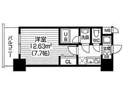 S−RESIDENCE福島Luxe[0709号室]の間取り