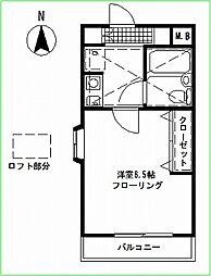 カルマ妙蓮寺[201号室号室]の間取り