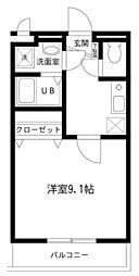 神奈川県厚木市愛甲4の賃貸アパートの間取り