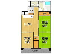 加島第1マンション[4階]の間取り