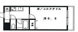 東京都新宿区高田馬場4丁目の賃貸マンションの間取り