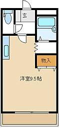 ミレニアムK[1階]の間取り