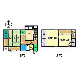 貸家(福井東町)[1階]の間取り