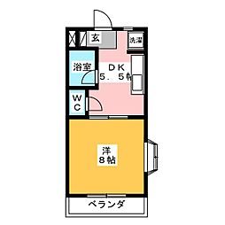 パール II[1階]の間取り