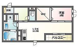 プランドールT1[3階]の間取り