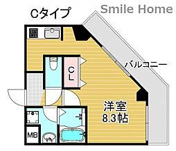 TOYOTOMi STAY Premium 天王寺公園南III 4階1Kの間取り